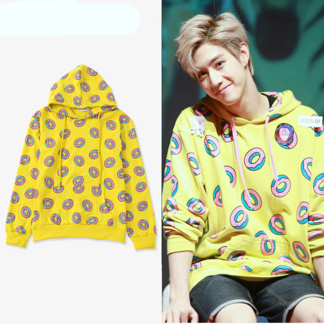 GOT7 DONUT HOODIE Color : As the Picture