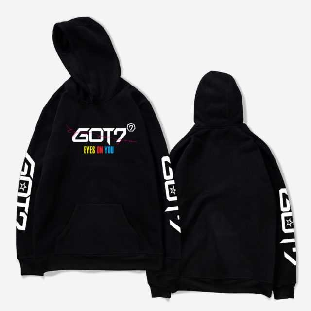 GOT7 EYES ON YOU HOODIE (6 VARIAN) Color : black|white|gray|navyblue|Pink|red