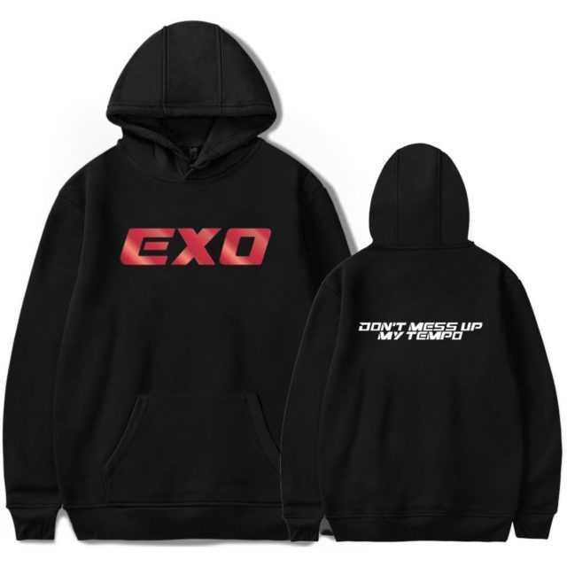EXO HOODIE (18 VARIAN) Color : black|white|gray|navy|pink|red|black|white|gray|navy|pink|red|black|white|gray|navy|pink|red