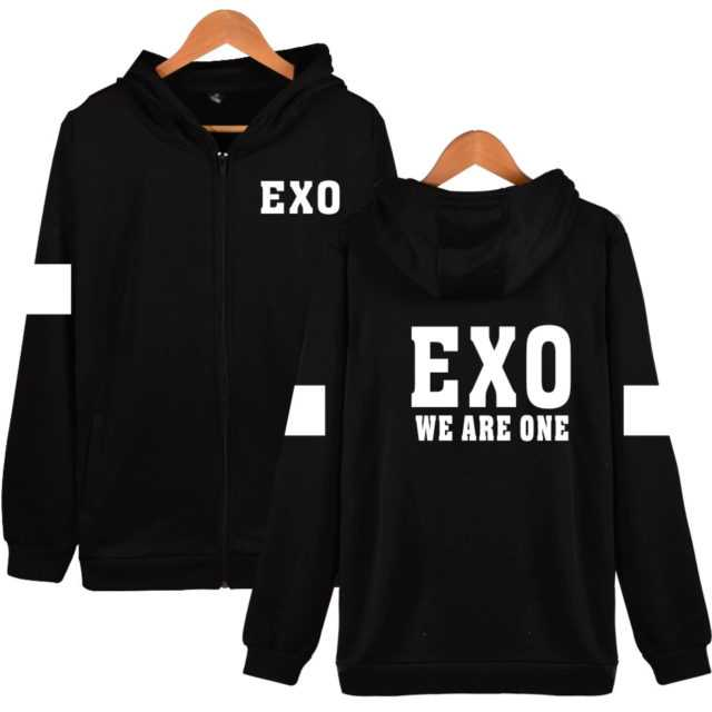 WE ARE ONE EXO ZIP UP HOODIE (20 VARIAN) Color : Black|White|Gray|Navy Blue|Black|White|Gray|Navy Blue|Black|White|Gray|Navy Blue|Black|White|Gray|Navy Blue|Black|White|Gray|Navy Blue
