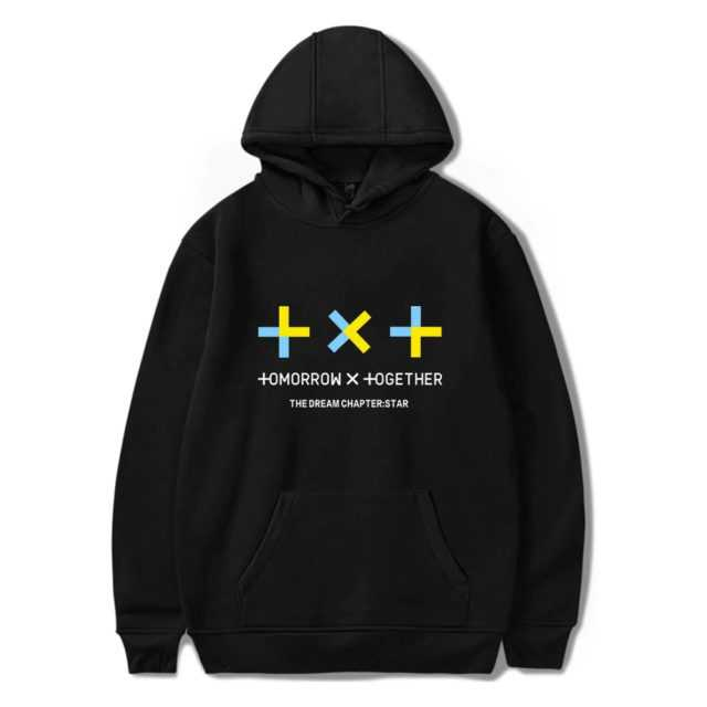 TXT THEMED HOODIE (12 VARIAN) Color : black|white|gray|navy blue|pink|red|black|white|gray|navy blue|pink|red