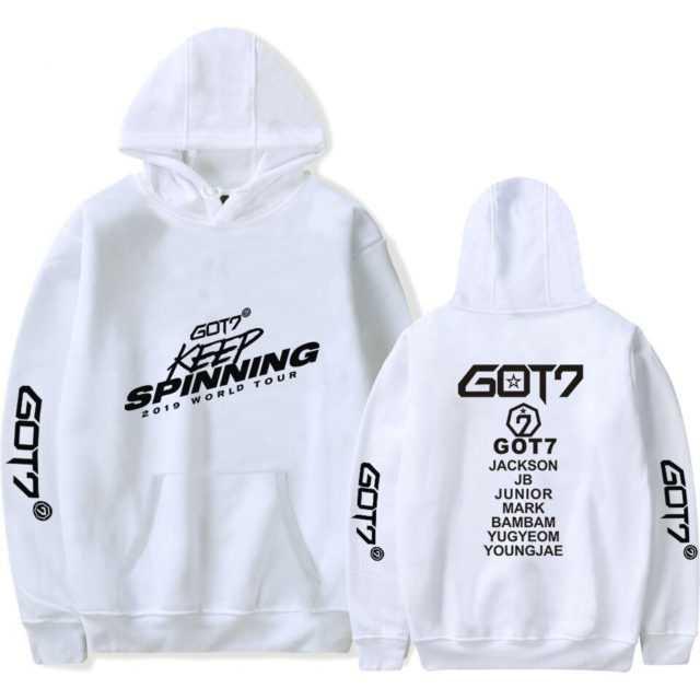 GOT7 2019 WORLD TOUR HOODIE (25 VARIAN) Color : black|white|gray|black|white|gray|black|white|gray|black|white|gray|black|white|gray|black|white|gray|black|white|gray|black|white|gray