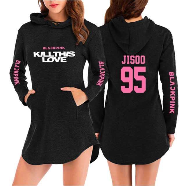 BLACKPINK KILLTHIS LOVE HOODED DRESS (20 VARIAN) Color : Black|White|gray|Navy Blue|pink|Black|White|gray|Navy Blue|pink|Black|White|gray|Navy Blue|pink|Black|White|gray|Navy Blue|pink
