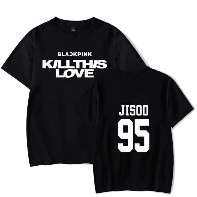 BLACKPINK KILLTHIS LOVE T-SHIRT (20 VARIAN) Color : black|white|gray|navy blue|pink|black|white|gray|navy blue|pink|black|white|gray|navy blue|pink|black|white|gray|navy blue|pink