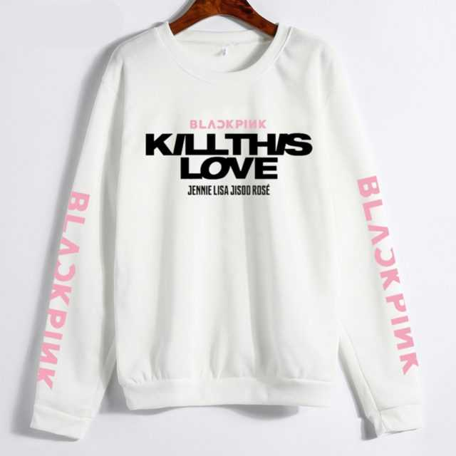 BLACKPINK KILL THISLOVE SWEATSHIRT (4 VARIAN) Color : Black|Gray|Pink|White