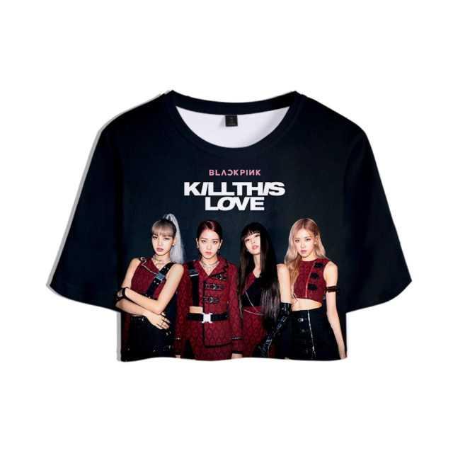 BLACKPINK KILLTHIS LOVE 3D CROP TOP T-SHIRT (6 VARIAN) Color : N01257|N01258|N01259|N01260|N01261|N01262