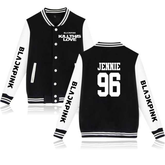 BLACKPINK KILL THIS LOVE BASEBALL JACKET (16 VARIAN) Color : black|gray|navy|pink|black|gray|navy|pink|black|gray|navy|pink|black|gray|navy|pink|size infor