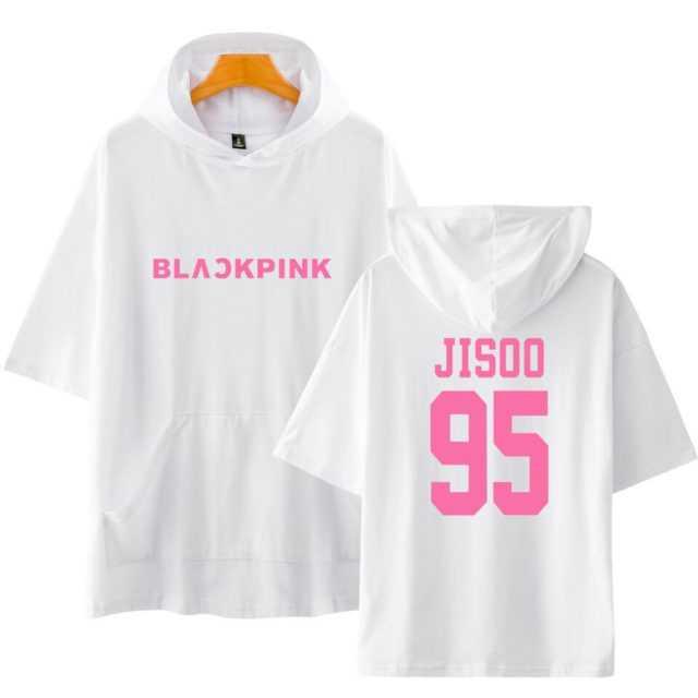BLACKPINK SHORT SLEEVE HOODIE (19 VARIAN) Color : black 97 LISA|white 97 LISA|Gray 97 LISA|Navy 97 LISA|pink 97 LISA|black 95 JISOO|white 95 JISOO|Gray 95 JISOO|Navy 95 JISOO|pink 95 JISOO|black 96 JENNIE|white 96 JENNIE|Gray 96 JENNIE|Navy 96 JENNIE|pink 96 JENNIE|black 97ROSE|white 97ROSE|Gray 97ROSE|Navy 97ROSE|pink 97ROSE