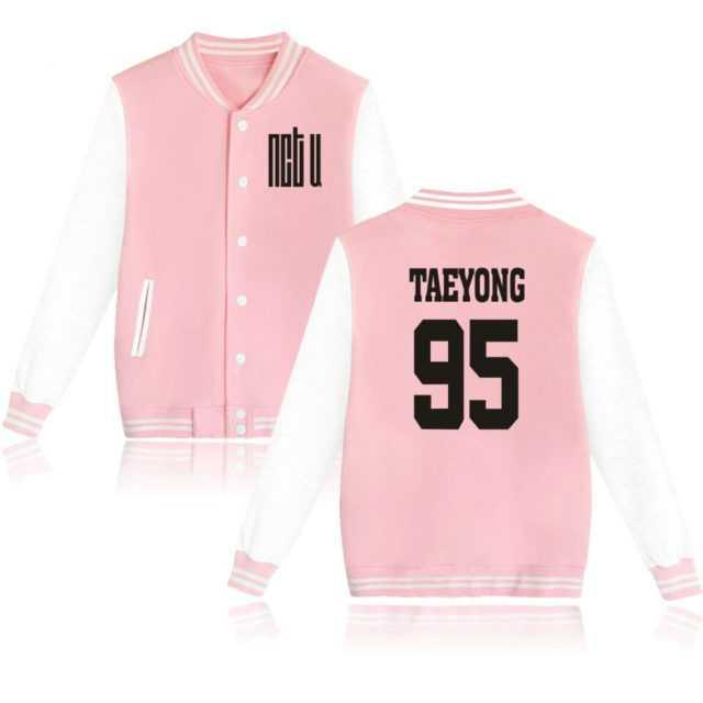 NCT U BASEBALL JACKET (28 VARIAN) Color : Black DO YOUNG-96|Black JAE HYUN-97|Black MARK-99|Black TAE IL-94|Black TAEYONG-95|Black TEN-96|Black|Pink DO YOUNG-96|Pink JAE HYUN-97|Pink MARK-99|Pink TAE IL-94|Pink TAEYONG-95|Pink TEN-96|Pink|Gray DO YOUNG-96|Gray JAE HYUN-97|Gray MARK-99|Gray TAE IL-94|Gray TAEYONG-95|Gray TEN-96|Gray|Navy DO YOUNG-96|Navy JAE HYUN-97|Navy MARK-99|Navy TAE IL-94|Navy TAEYONG-95|Navy TEN-96|Navy