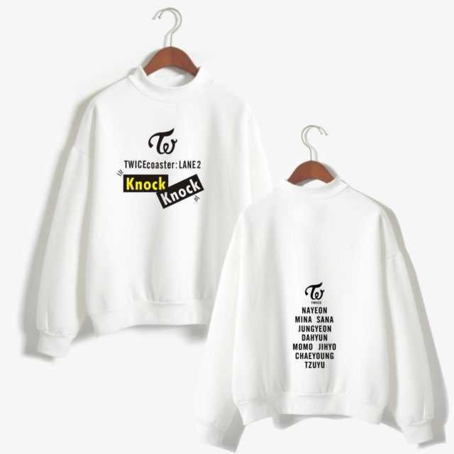 TWICE SWEATSHIRT (5 VARIAN) Color : Black|White|Gray|Pink|Navy
