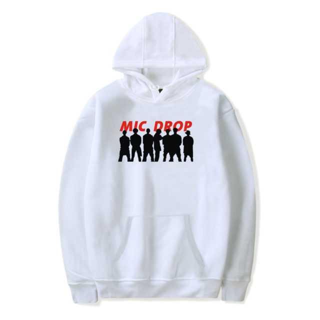 BTS MIC DROP HOODIE (6 VARIAN) Color: WHITE Size: XXS|XS|S|M|L|XL|XXL|XXXL|4XL