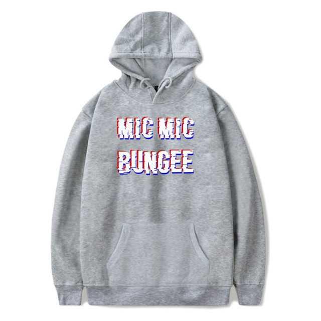 BTS MIC MIC BUNGEE HOODIE (6 VARIAN) Color: GRAY Size: XXS|XS|S|M|L|XL|XXL|XXXL|4XL