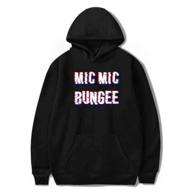 BTS MIC MIC BUNGEE HOODIE (6 VARIAN) Color: BLACK Size: XXS|XS|S|M|L|XL|XXL|XXXL|4XL