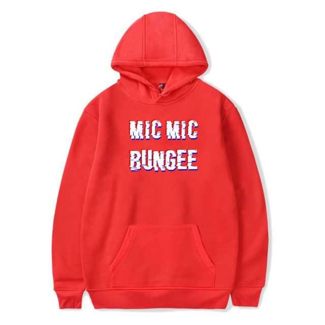 BTS MIC MIC BUNGEE HOODIE (6 VARIAN) Color: RED Size: XXS|XS|S|M|L|XL|XXL|XXXL|4XL