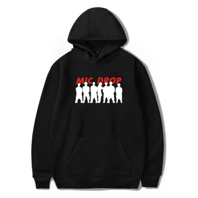 BTS MIC DROP HOODIE (6 VARIAN) Color: BLACK Size: XXS|XS|S|M|L|XL|XXL|XXXL|4XL