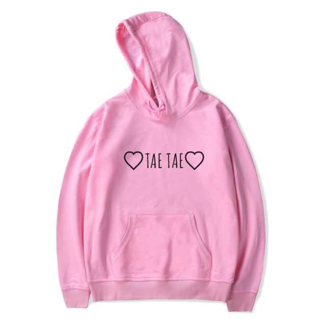 BTS TAE TAE HOODIE (5 VARIAN) Color: pink Size: XXS|XS|S|M|L|XL|XXL|XXXL