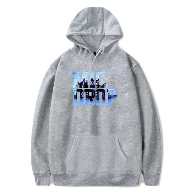 BTS MIC DROP HOODIE (6 VARIAN) Color: Gray Size: XXS|XS|S|M|L|XL|XXL|XXXL