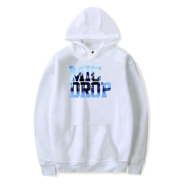 BTS MIC DROP HOODIE (6 VARIAN) Color: White Size: XXS|XS|S|M|L|XL|XXL|XXXL
