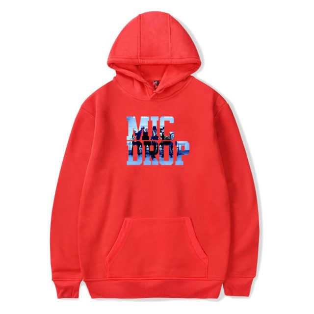 BTS MIC DROP HOODIE (6 VARIAN) Color: Red Size: XXS|XS|S|M|L|XL|XXL|XXXL