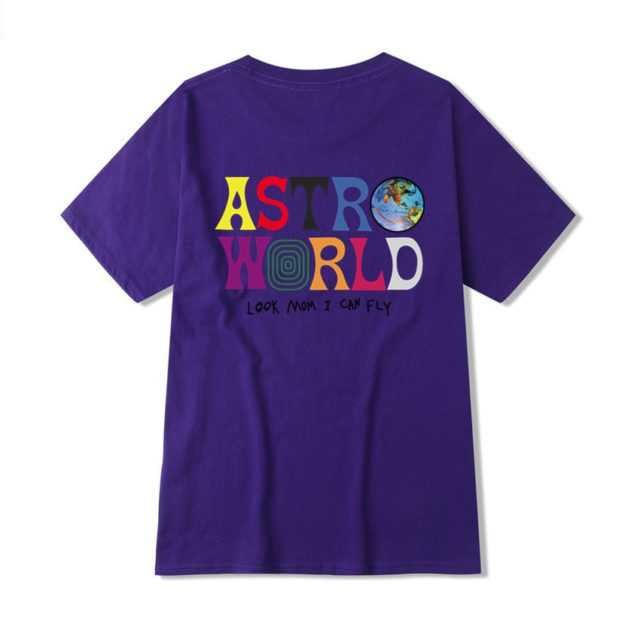 TRAVIS SCOTTS ASTROWORLD T-SHIRT (12 VARIAN) Color : Light Blue|Purple|Black|Red|White|Pink|Blue|Navy Blue|Light Gray|Yellow|Wine Red|Dark Gray