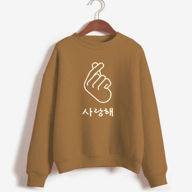 FINGER HEART SWEATSHIRT (10 VARIAN) Color: 4 Color: 5|6|7|8|10|9 Size: M|L|XL|XXL