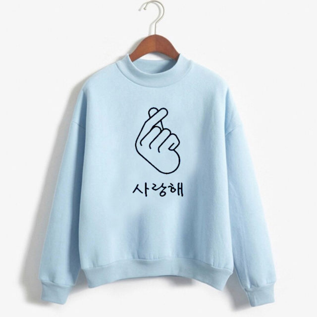 FINGER HEART SWEATSHIRT (10 VARIAN) Color: 2 Color: 5|6|7|8|10|9 Size: M|L|XL|XXL
