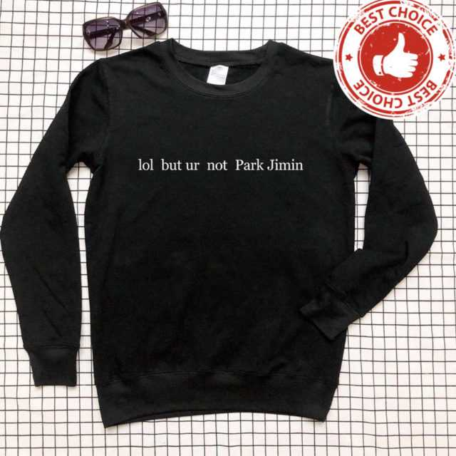 FUNNY PARK JIMIN SWEATSHIRT (5 VARIAN) Color: black t white words Size: S|M|L|XL|XXL