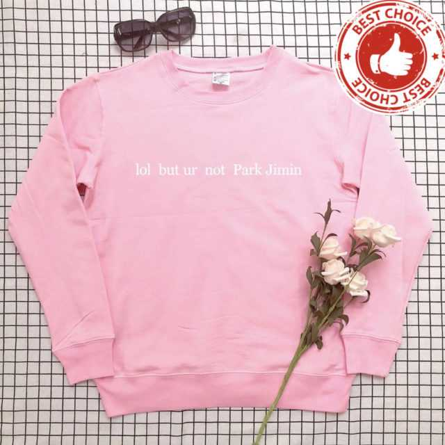 FUNNY PARK JIMIN SWEATSHIRT (5 VARIAN) Color: pink t black words Size: S|M|L|XL|XXL