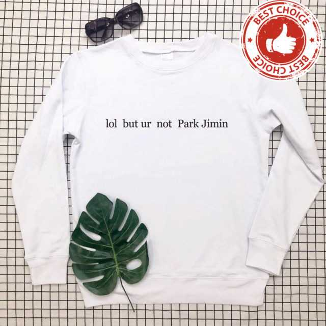 FUNNY PARK JIMIN SWEATSHIRT (5 VARIAN) Color: white t black words Size: S|M|L|XL|XXL