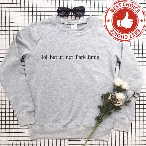 FUNNY PARK JIMIN SWEATSHIRT (5 VARIAN) Color: gray t black words Size: S|M|L|XL|XXL