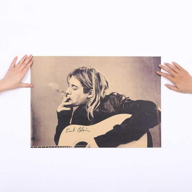 Kurt Cobain Wall Poster 51×35.5CM