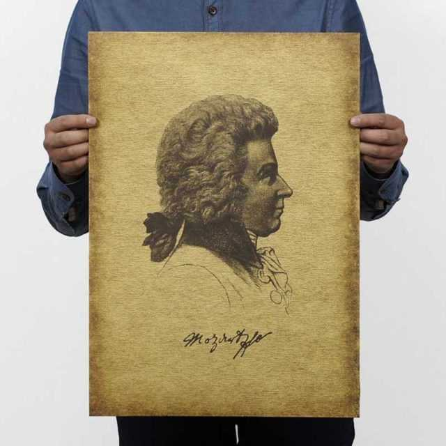 Mozart Wall Poster 51×35.5cm