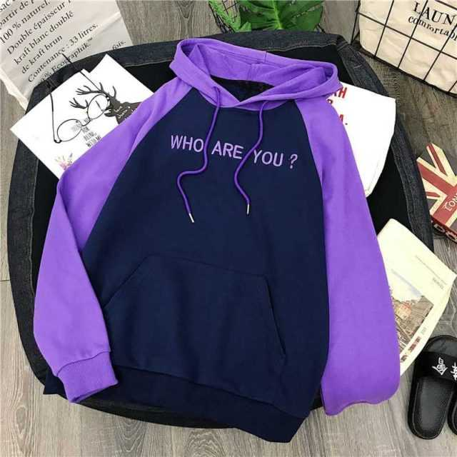WHO ARE YOU EMBROIDERY HOODIE (2 VARIAN)