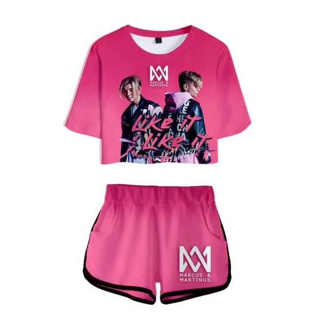 3D Women Sexy Sets Marcus &martinus Short Sleeve Tees and Short Pants Funny Printed Fashion Casual High Quality Tops