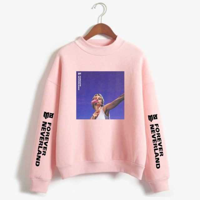 Momomoyouth Kpop Sweatshirt MO Forever Neverland Harajuku Pink Clothing Fashion Casual Long Sleeve Women/men Korean Streetwear