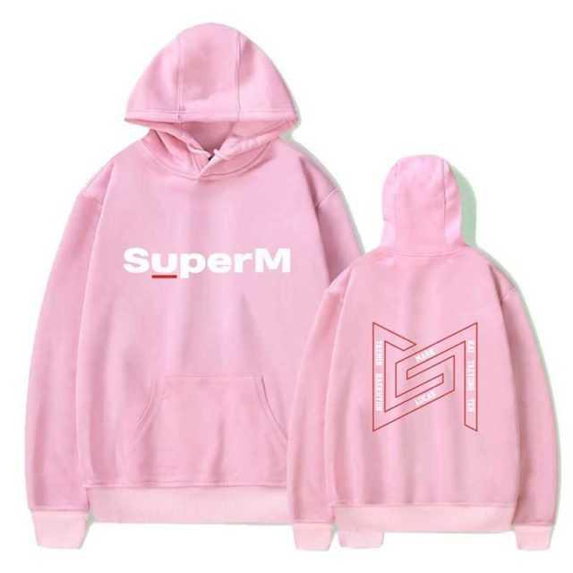 PG082 SuperM New Album Logo Hoodies KPOP Hooded Pullovers