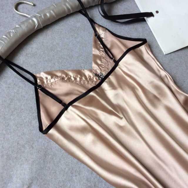 SEXY SILK SATIN NIGHT DRESS (11 VARIAN)