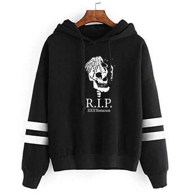 XXXTENTACION THEMED STRIPED HOODIE (25 VARIAN)