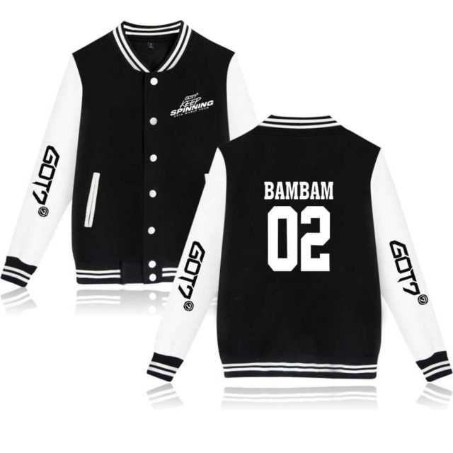 got7 kpop merch baseball jacket cheap