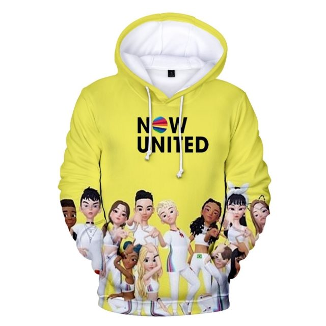 WAMNI 2020 Now United Hoodie Sweatshirts Men Women 3D Noah Urrea Pullover Unisex Harajuku Tracksui