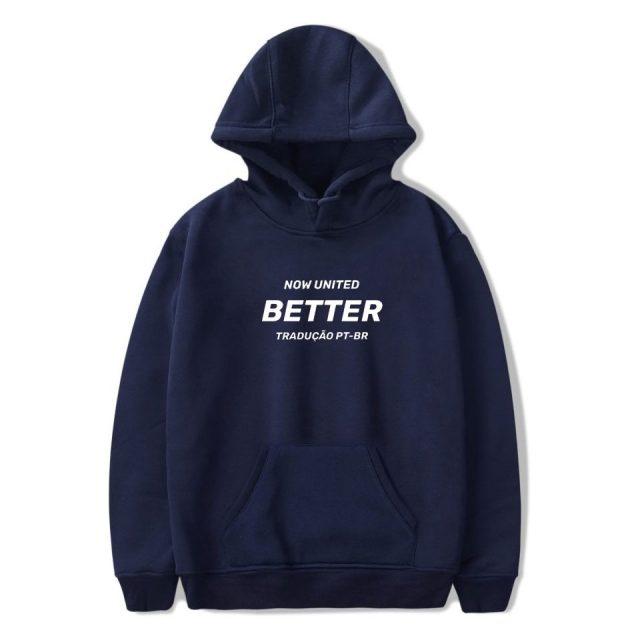 WAMNI Now United - Better Album Hoodie Sweatshirts Men Women Better Now United Lyrics Pullover Unisex Kawaii Harajuku Tracksui