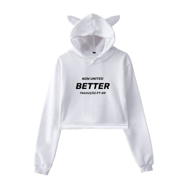 WAMNI 2020 Now United - Better Album Cat Hoodie Women Better Now United Lyrics  Pullover Girl Kawaii Harajuku Tracksui