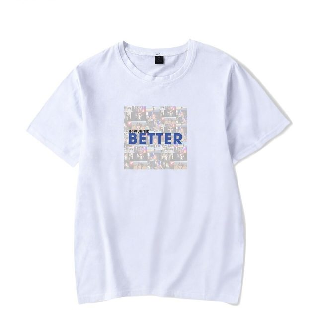 WAMNI Now United - Better Album T Shirt Women Short Sleeve Better Now United Lyrics Women Funny T Shirt Unisex Harajuku Tops