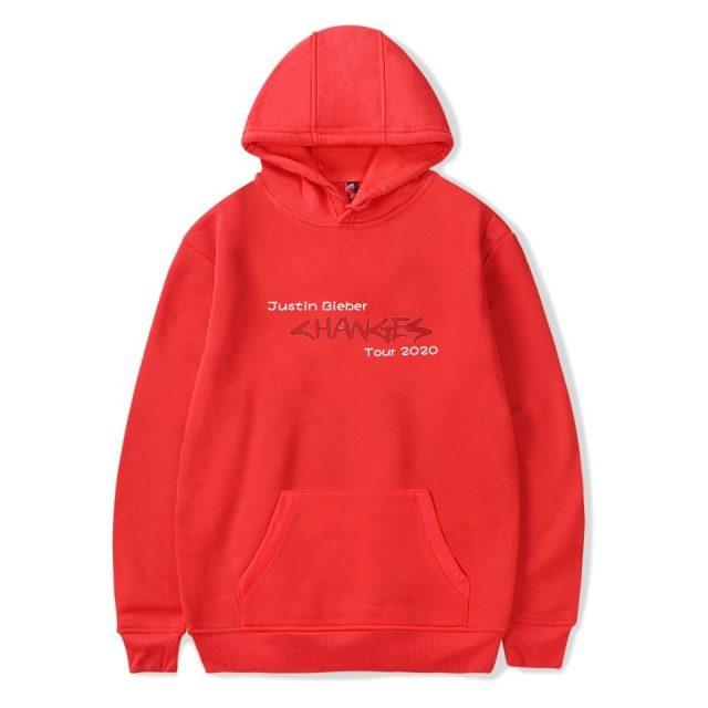 2020 New Album Changes Justin Bieber Tour  Hoodie Sweatshirts Men Women  Print hoodie Pullover Unisex Harajuku Tracksuit