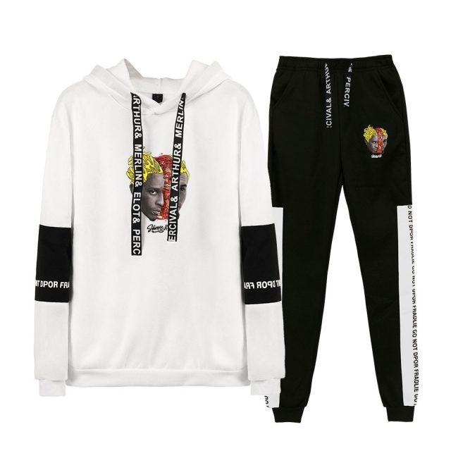 New Chris Brown & Young Thug Go Crazy Two Piece Set Women/Men Long Sleeve Hoodies+Long Pants Fashion hoodie Clothes