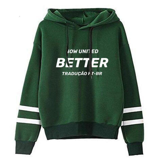 2020 Now United Better Album Hoodie Sweatshirt for Women Kpop New Texts Streetwear Girl Kawaii Harajuku Tracksuit Print Casual