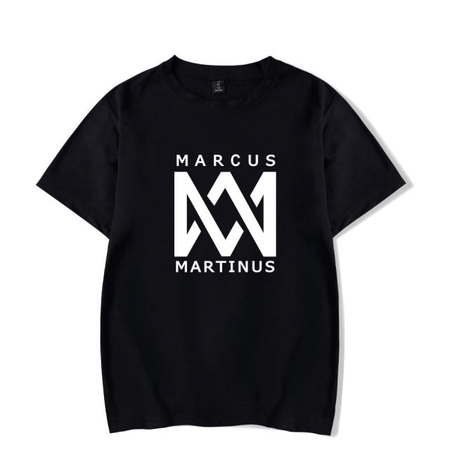 Marcus &martinus Short Sleeve T-shirt O-neck Summer Kpop New Style Casual Hop Norway Twin Combination Soft Shirts