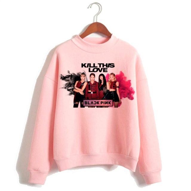 New Blackpink In Your Area Harajuku Kawaii Hoodies Women Kpop Kill This Love Ullzang Sweatshirt Square Up 90s K-pop Hoody Female