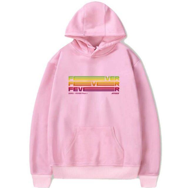 New Fashion K Pop Kpop Ateez Comeback Concert Zero Fever Part 1 Same Printing Hoodies Unisex Fashion Fleece Pullover Sweatshirt