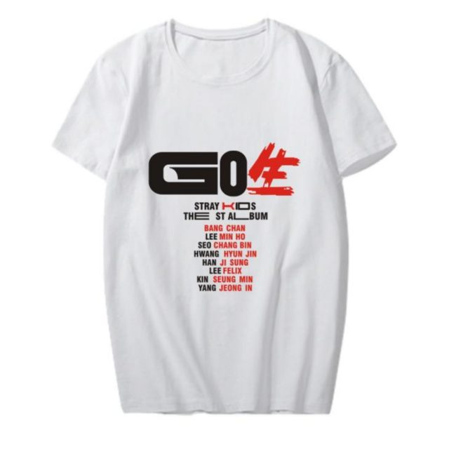 New Korean Fashion Kpop Straykids Stray Kids Go Album Same All Member Name Printing T Shirt for Summer Kpop Short Sleeve T-shirt